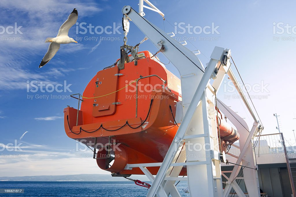 lifeboat royalty-free stock photo