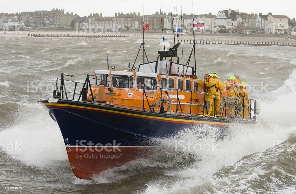 Lifeboat stock photo