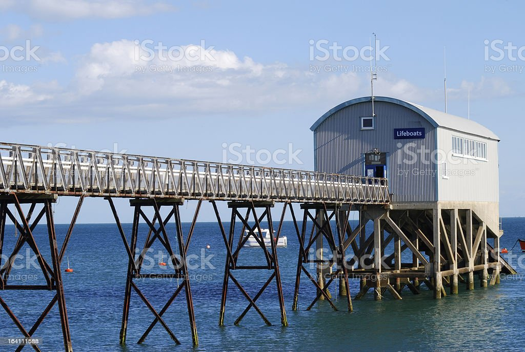Lifeboat station at Selsey. Sussex. England royalty-free stock photo