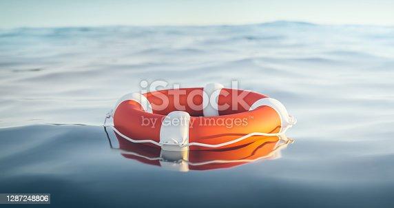 istock Lifebuoy, 3d Render 1287248806