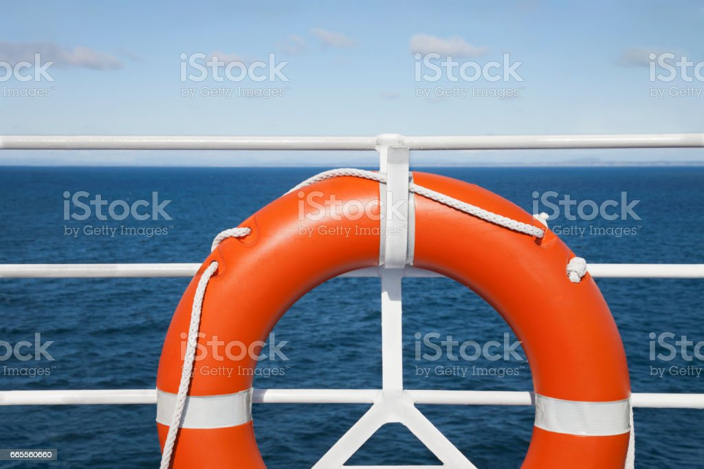 Lifebuoy detail stock photo