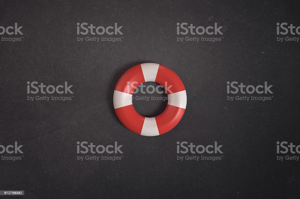 Lifebuoy for safety. stock photo