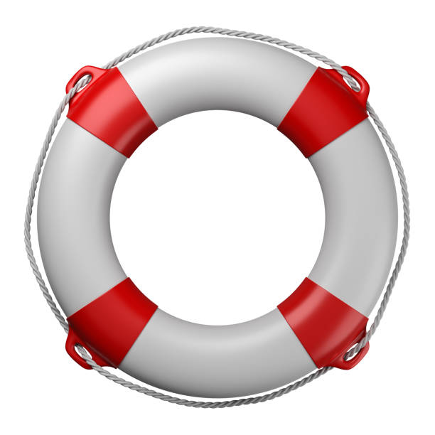 Lifebuoy Isolated on White Lifebuoy Isolated on White Background 3D Illustration buoy stock pictures, royalty-free photos & images