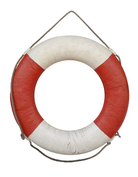 Lifebuoy old isolated on white Old lifebuoy isolated on white with Clipping Path buoy stock pictures, royalty-free photos & images