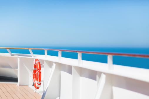 istock Lifebuoy on Boat Deck 182732595