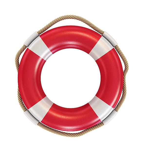 Lifebuoy Red lifebelt with white stripes. buoy stock pictures, royalty-free photos & images