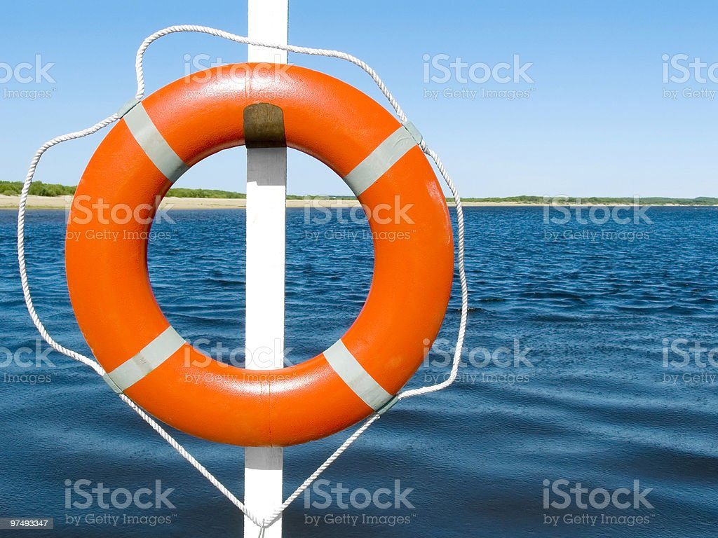 Lifebuoy ring royalty-free stock photo