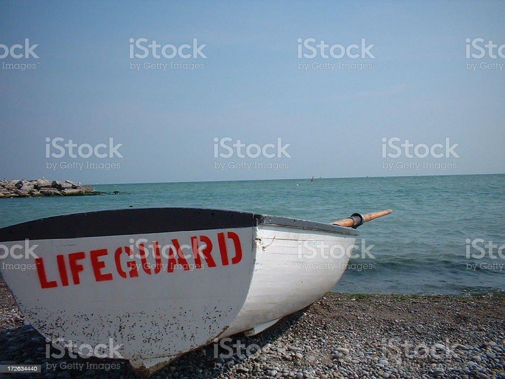 Lifeguard Boat royalty-free stock photo