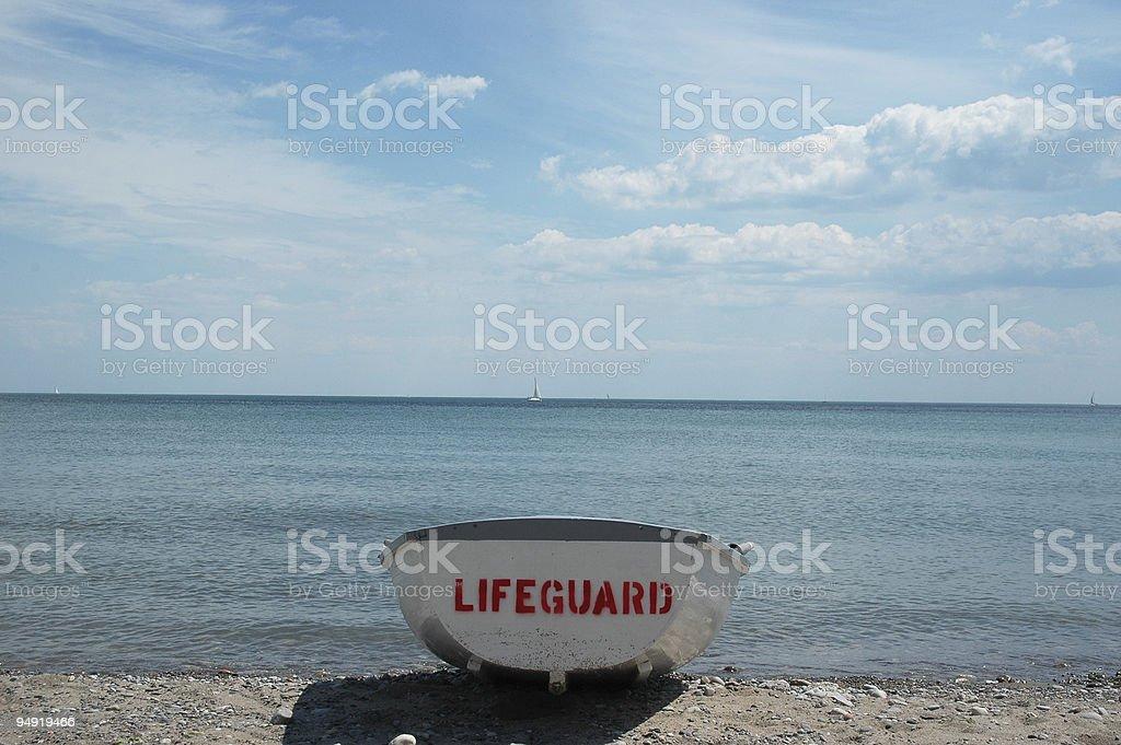 Barco salva-vidas - foto de acervo