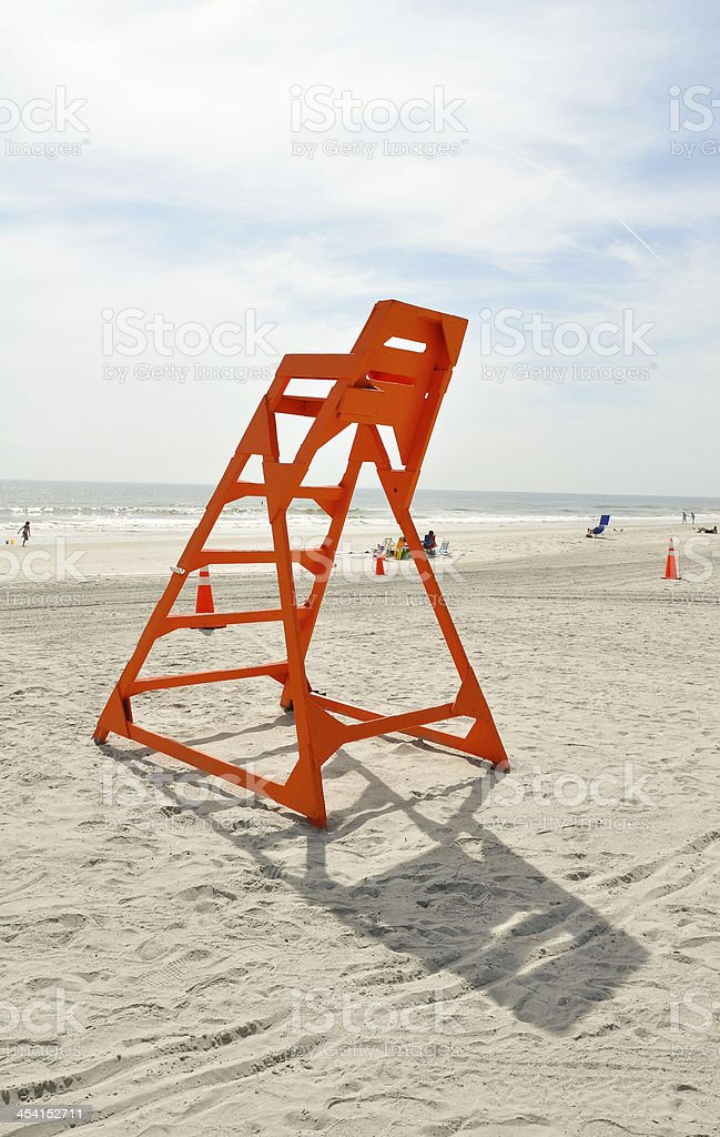 lifeguard chair on a beach royalty-free stock photo