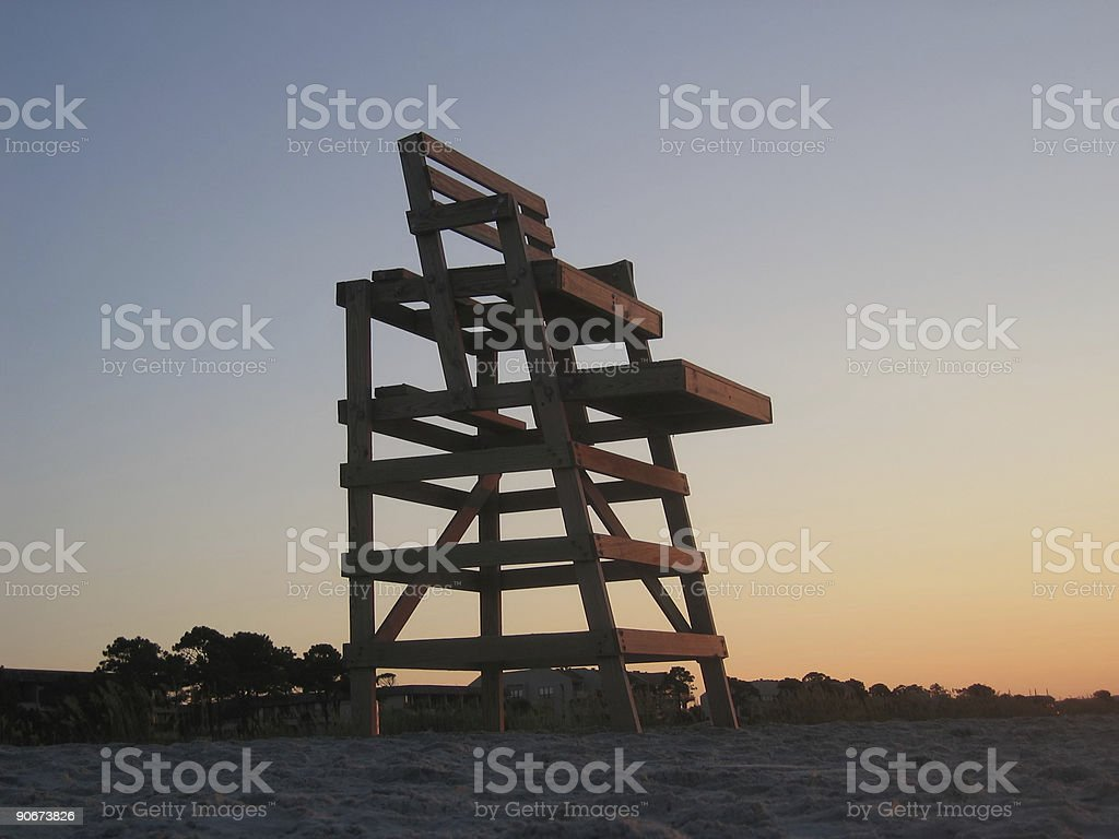 Lifeguard Chair royalty-free stock photo