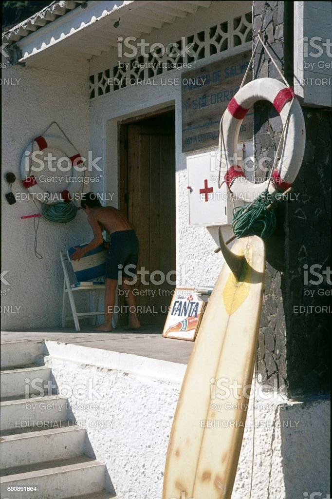 Lifeguard, Gran Canaria, Spain stock photo