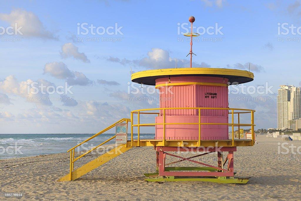 Budka ratownika w Miami Beach sunrise – zdjęcie