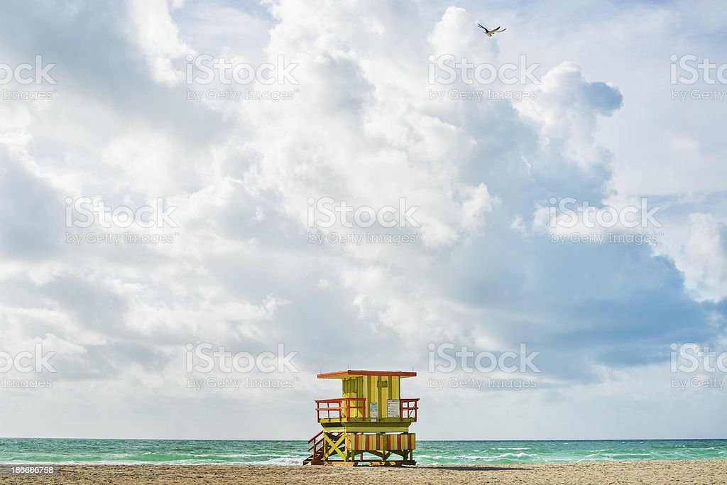 Lifeguard hut royalty-free stock photo