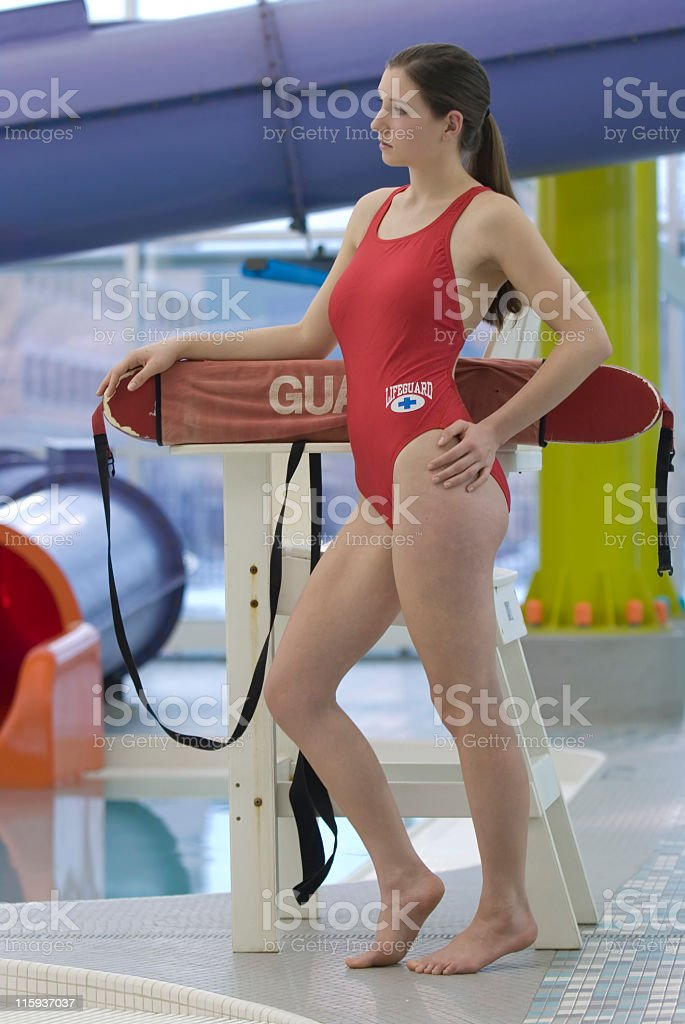 Lifeguard on Duty stock photo