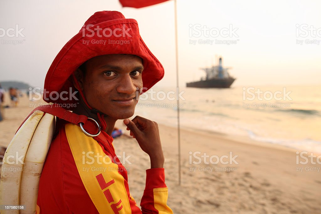 Lifeguard on the Beach stock photo