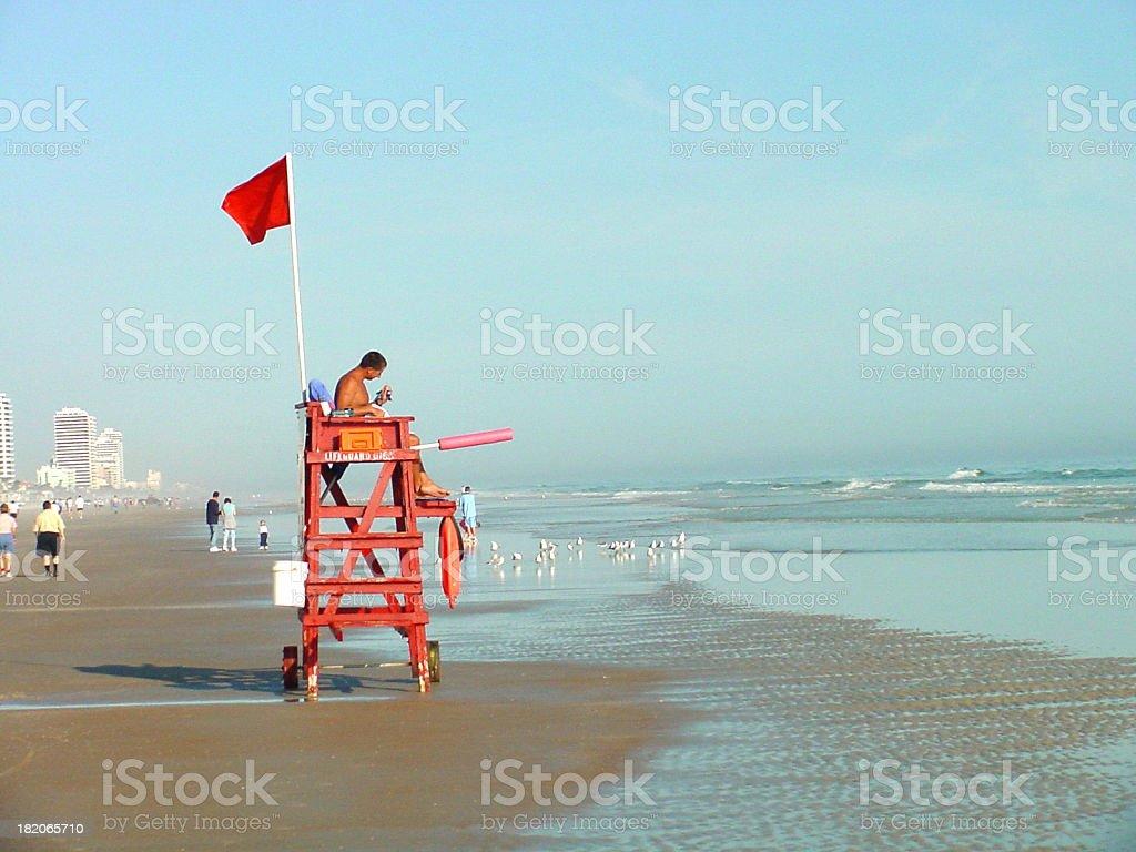 Lifeguard on Watch stock photo