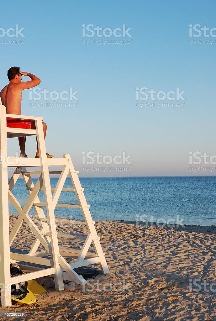 Lifeguard royalty-free stock photo