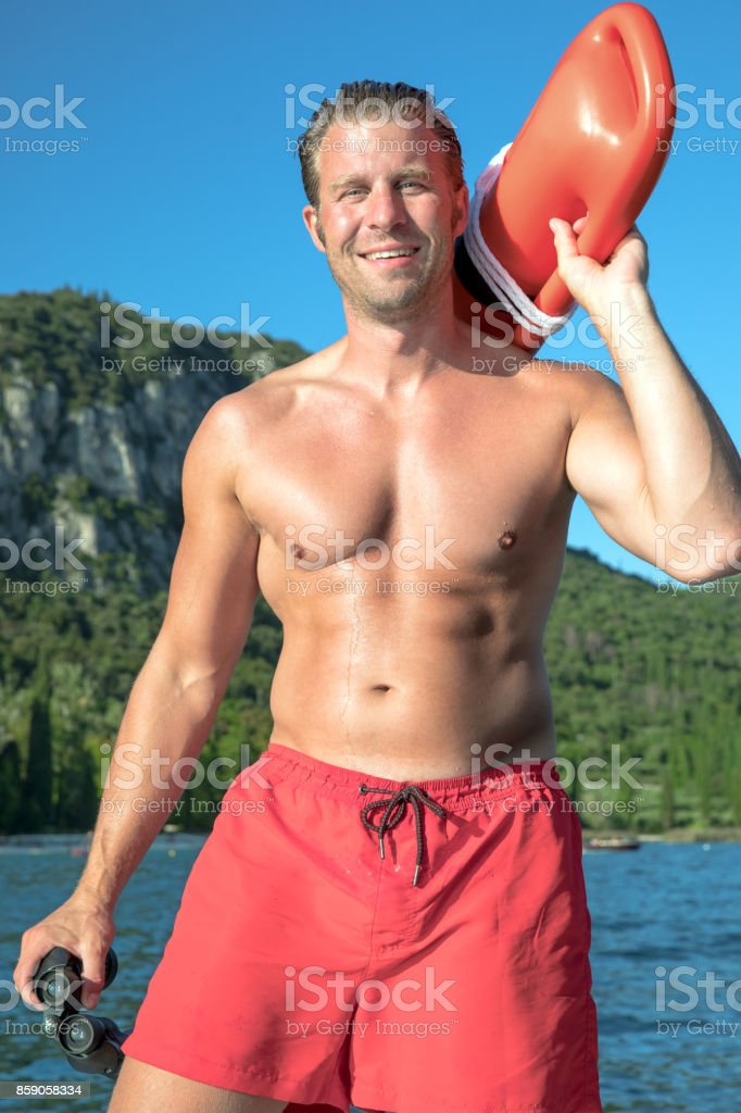 Lifeguard stock photo