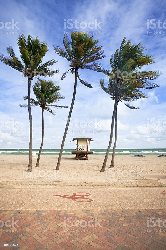 Lifeguard post in Fort Lauderdale Miami Florida royalty-free stock photo