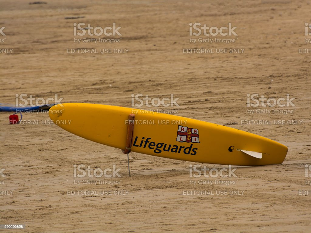 RNLI Lifeguard Rescue Board royaltyfri bildbanksbilder