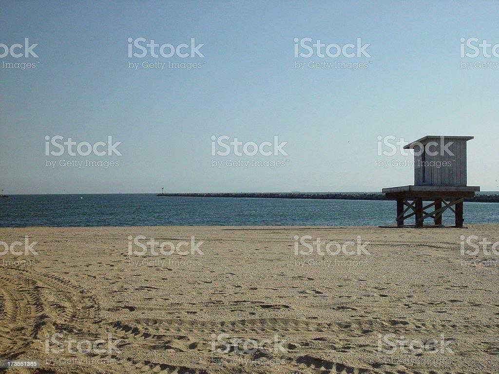 Lifeguard Shack royalty-free stock photo