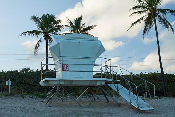 Lifeguard Stand, Fort Lauderdale, Florida stock photo