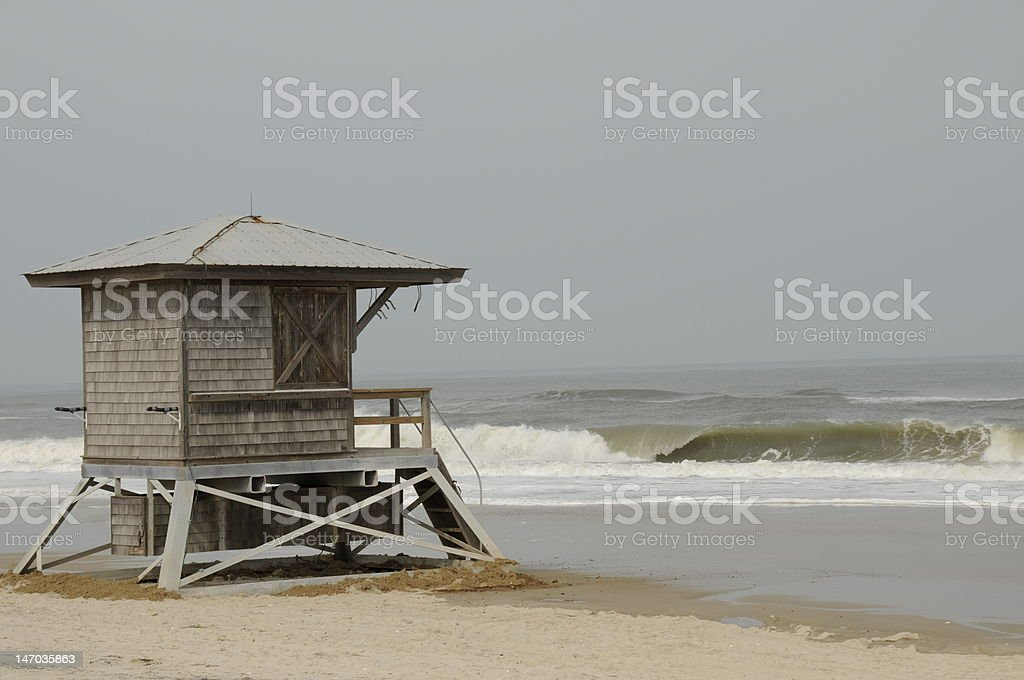 Lifeguard stand on the Eastern Shore Coast, Maryland Photo of a lifeguard stand located at the beach on the Eastern Shore, Maryland. Beach Stock Photo