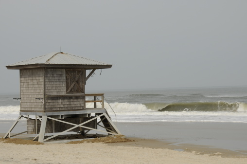 Lifeguard Stand On The Eastern Shore Coast Maryland Stock Photo - Download Image Now