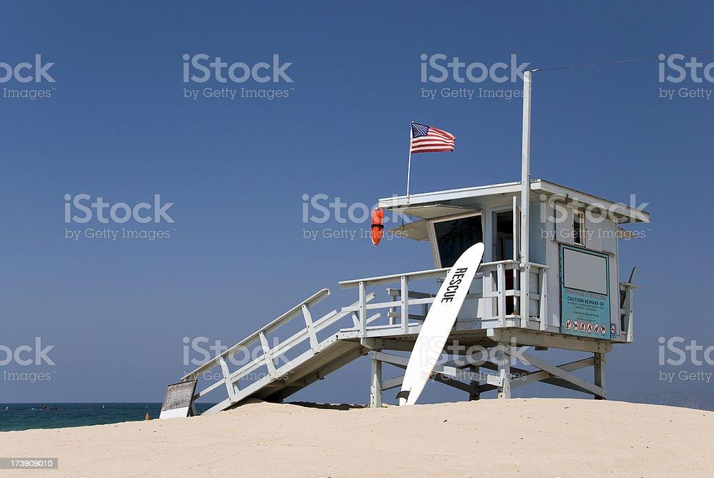 Lifeguard station at the beach stock photo