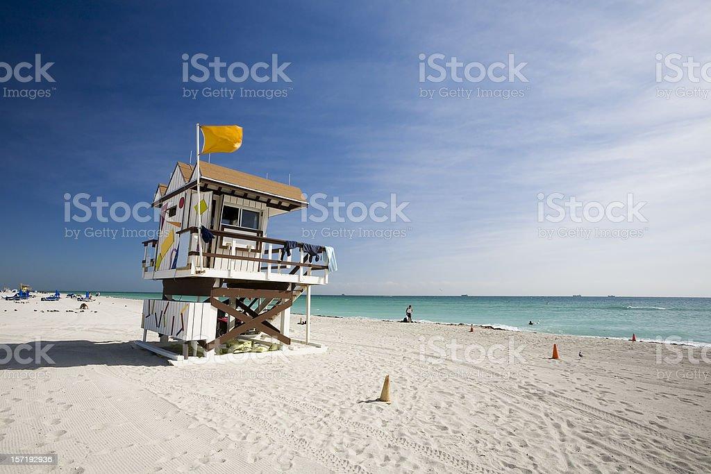 Lifeguard Station, Miami Beach royalty-free stock photo