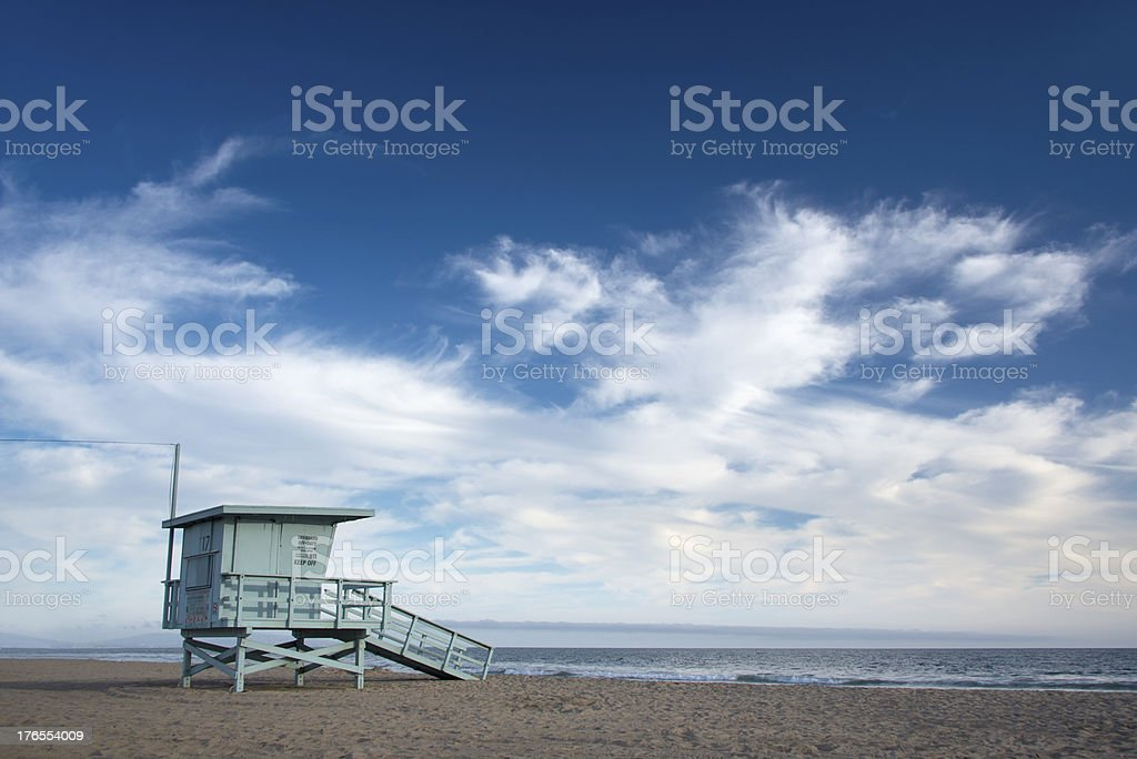 Lifeguard Station royalty-free stock photo