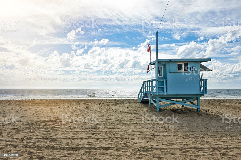 Lifeguard Station stock photo