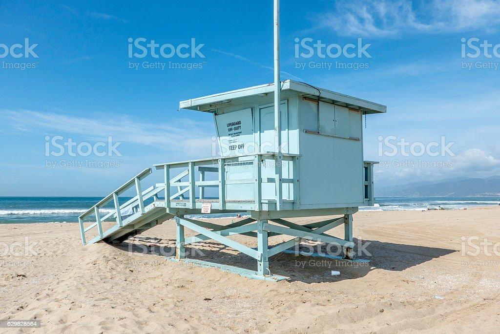 lifeguard station, venice beach, california – zdjęcie