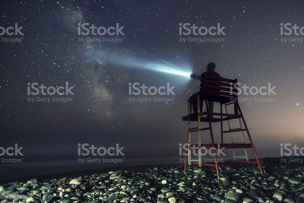 Lifeguard to the Stars royalty-free stock photo