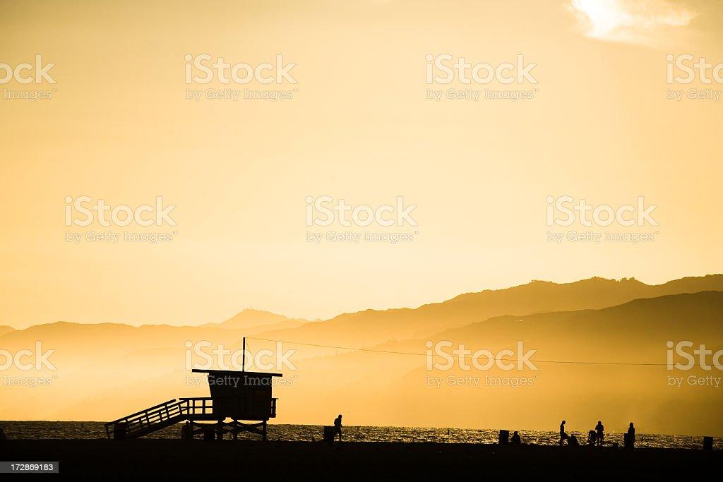 Lifeguard Tower at Dusk royalty-free stock photo