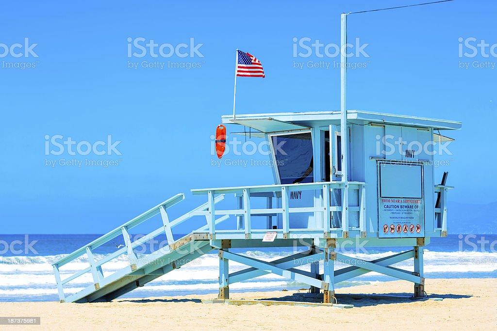 Wieża ratownika w Venice beach w Los Angeles, Kalifornia – zdjęcie