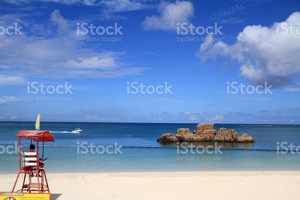 lifeguard tower in Araha beach, Okinawa, Japan lifeguard tower in Araha beach, Okinawa, Japan 2015 Stock Photo