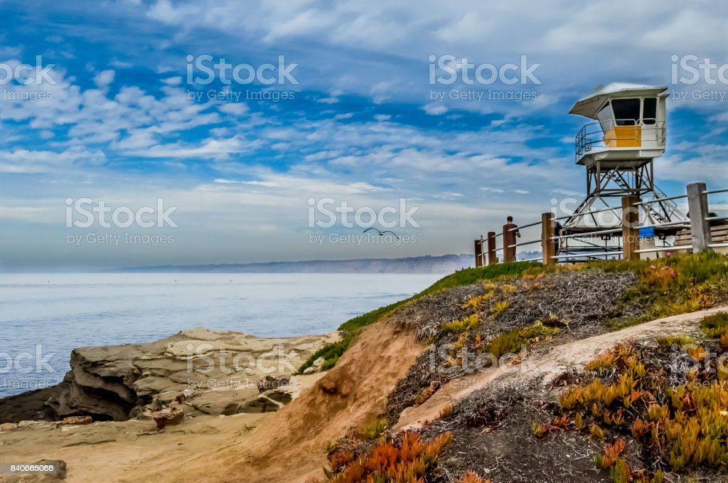 Lifeguard Tower Jolla Cove stock photo