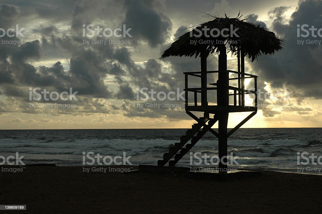 Lifeguard Tower royalty-free stock photo