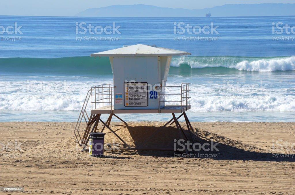 lifeguard tower stock photo