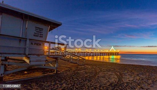 istock Lifeguard Towers - Southern California Beach 1138549867