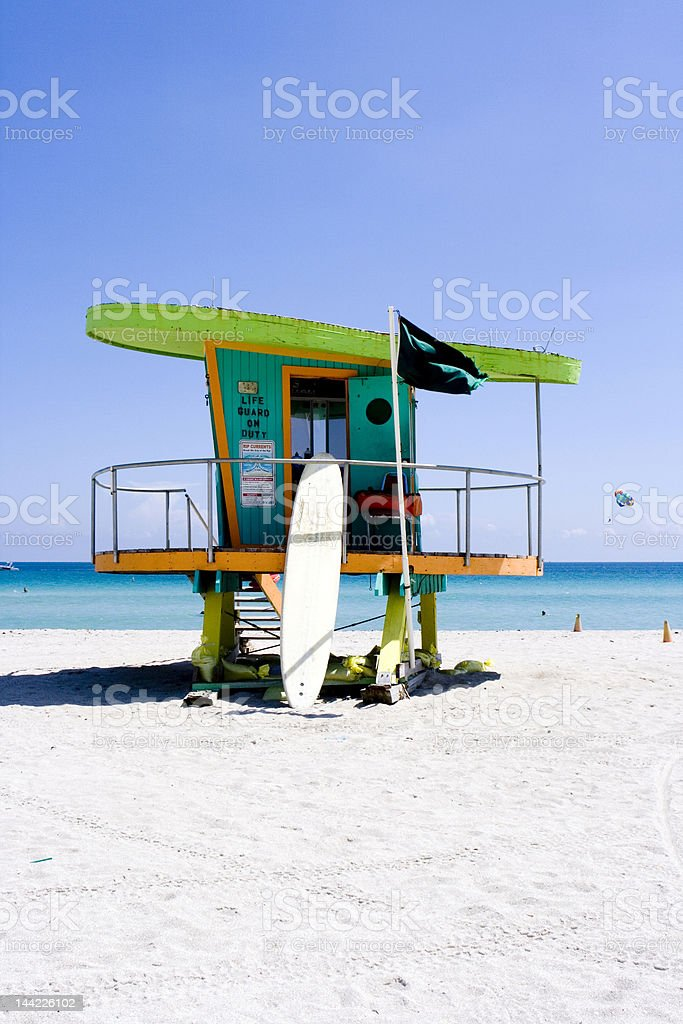 Lifeguard Watch Tower, Miami royalty-free stock photo
