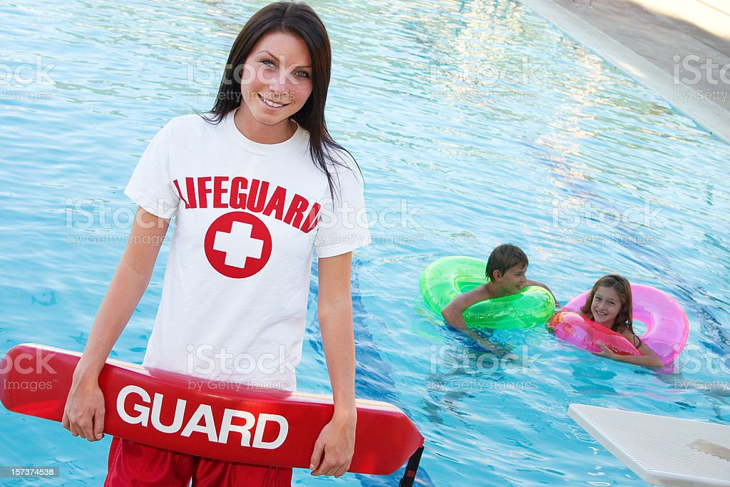 Lifeguard with Float stock photo
