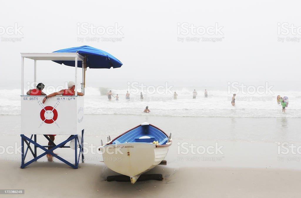 Lifeguards at Work stock photo