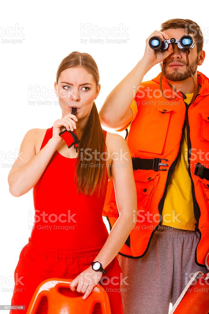 Gilet de sauvetage de la vie avec anneau bouée sifflant. photo libre de droits