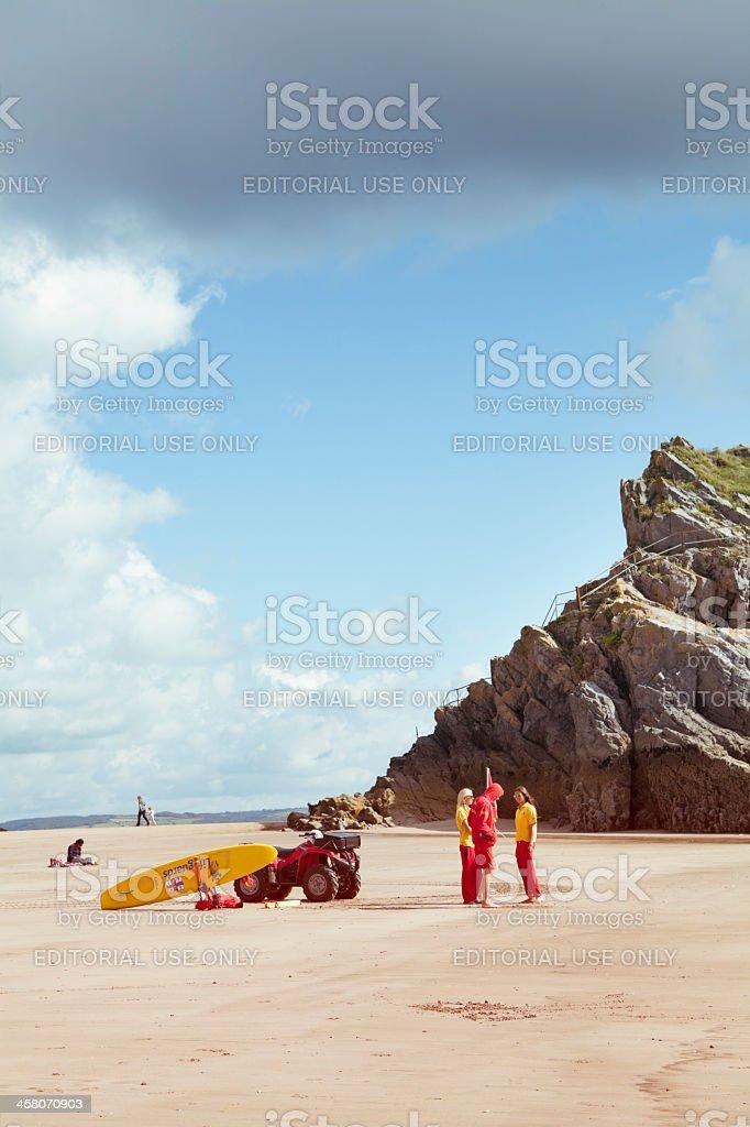 Lifeguards On Duty stock photo