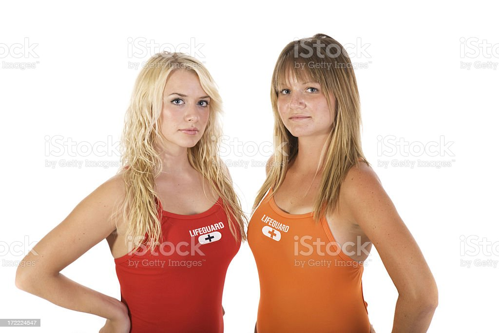 Lifeguards royalty-free stock photo