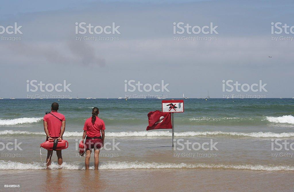 Lifeguards royalty free stockfoto