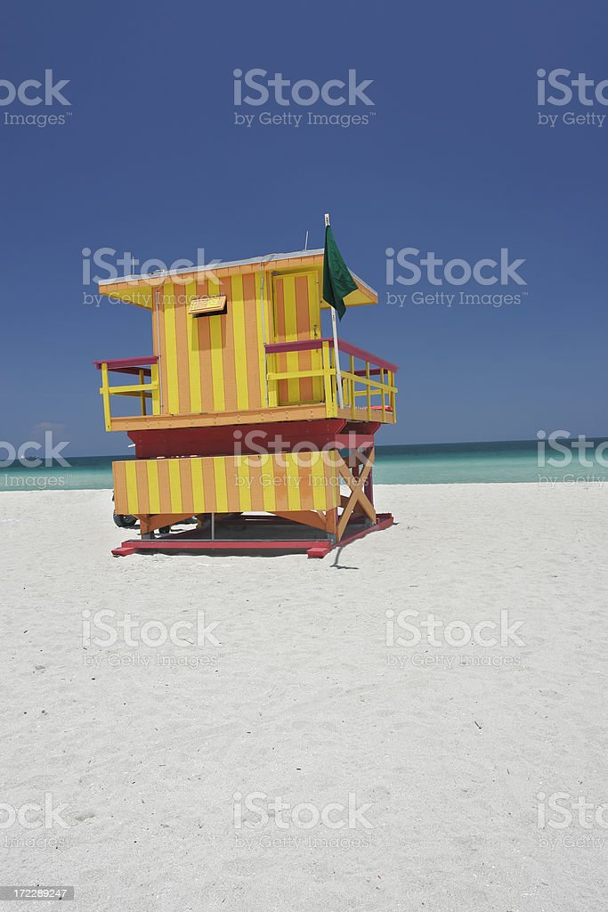 Lifeguard's Station royalty-free stock photo